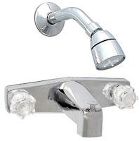 """Phoenix 8"""" Chrome Tub Faucet & Shower Diverter"""