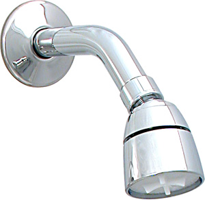 Empire Reg Chrome Shower Head With Arm And