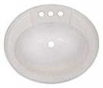 20u0026quot; X 17u0026quot; Almond Oval Plastic Lavatory Sink
