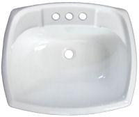 20 X 17 White Rectangular Plastic, Mobile Home Bathroom Sink