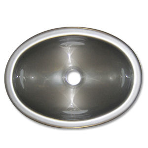 Kinro composites 13 x 10 stainless steel colored for Colored stainless steel sinks