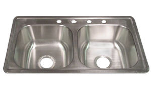 Awesome Elkayu0026reg; Dayton 33u0026quot; X 19u0026quot; X 8u0026quot; Stainless Steel Kitchen Sink