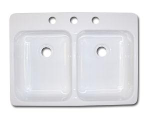 kinro composites u0026trade  25 u0026quot  x 17 u0026quot  x 5 u0026quot  white acrylic kitchen sink  close window   115 97 kinro composites    25   x 17   x 5   white acrylic kitchen sink      rh   mobilehomepartsstore com