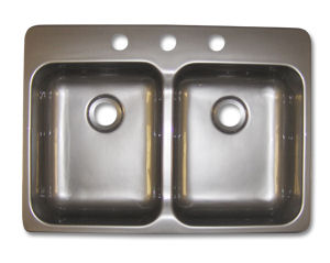 Kinro composites 25 x 17 x 5 stainless steel colored for Colored stainless steel sinks
