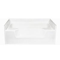 American fiberglass 54 x 42 white garden tub for Fiberglass garden tub