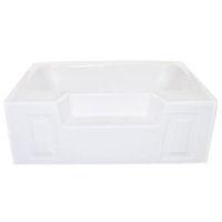 American Bath 60 Quot X 42 Quot White Standard Gauge Abs Garden Tub