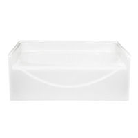 American fiberglass 60 x 42 white garden tub Fiberglass garden tubs