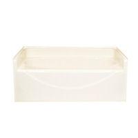 American fiberglass 60 x 42 almond garden tub Fiberglass garden tubs