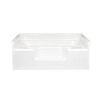 American fiberglass 60 x 48 white garden tub for Fiberglass garden tubs