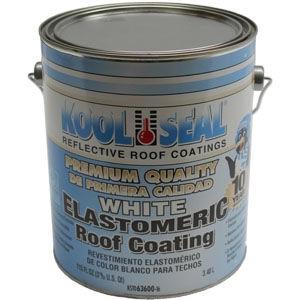 Kool Seal's® White Elastomeric Roof Coating