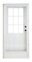 38 X 82 Kinro Steel Combination Exterior Door With 9 Lite Window And Full View Storm Mobile