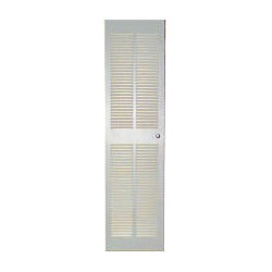 """24"""" x 78 1/2"""" (24 1/2"""" x 80 1/2"""" Opening) White Louvered Furnace Door"""