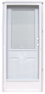 34 X 76 Kinro Steel Combination Exterior Door With Integral Blinds And Full View Storm