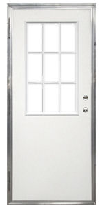32 X 72 Kinro Out Swing Exterior Door With 9 Lite Window USKinr