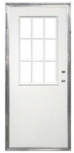 32 X 78 Kinro Out Swing Exterior Door With 9 Lite Window Kinrosixpaneldoorsteel