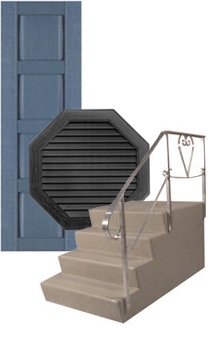 Mobile Home Front Stairs In Front Of Shutters