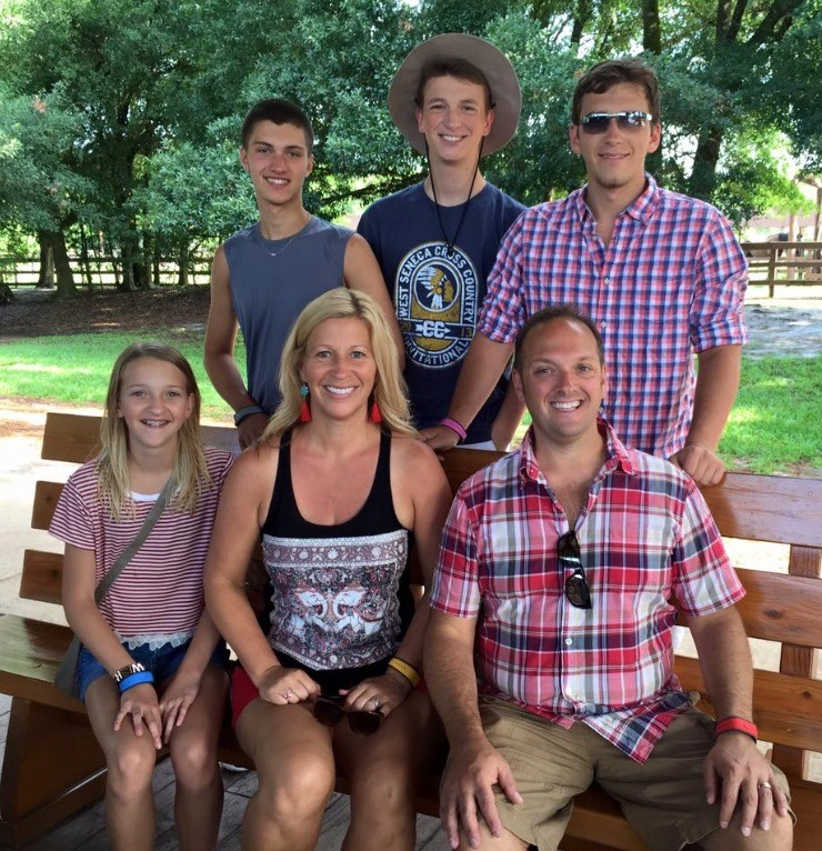 Family Posing At A Campground.