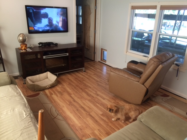 White Painted Walls, New Wood Floors And Updated Furniture.
