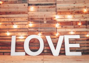 Love Spelled Out In Large Letters.