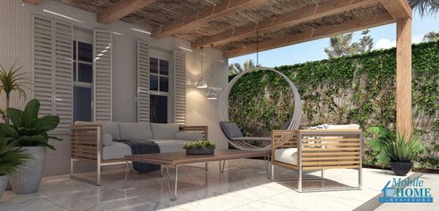 Mobile home patio