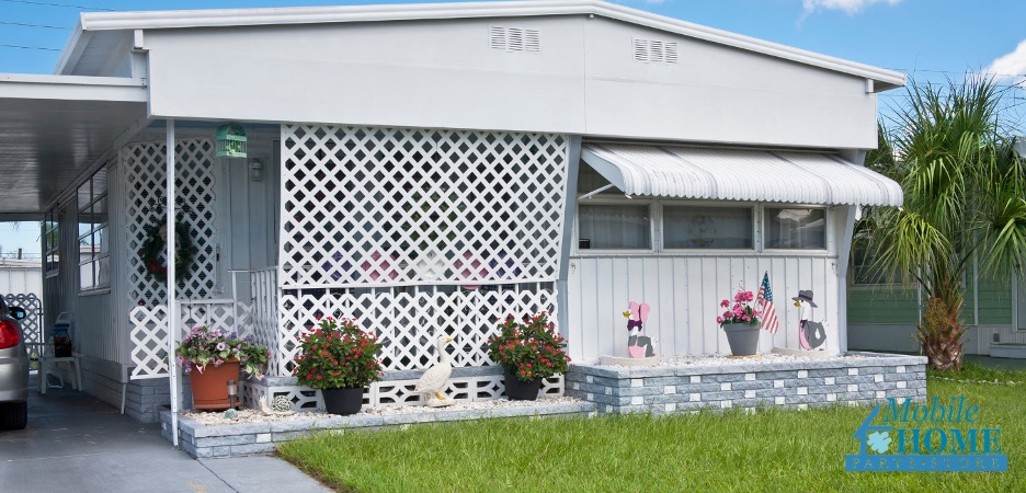 Installing a carport on a mobile home