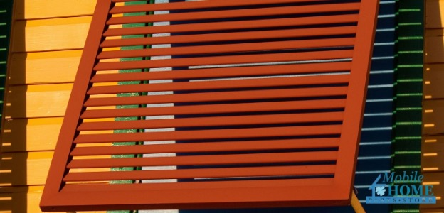 Shutters for mobile home windows