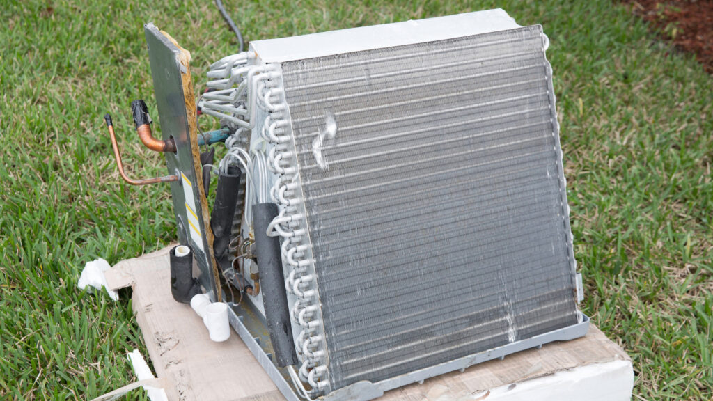 Air conditioning coils including the evaporator and condenser coils