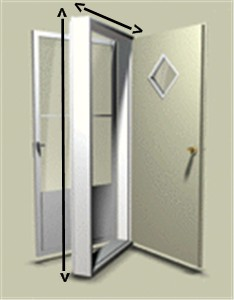 32  x 74  Kinro Combination Exterior Door with 9 Lite Window and White Self Storing Storm | Mobile Home Parts Store | CD32749LS  sc 1 st  Mobile Home Parts Store : 32x74 interior door - pezcame.com