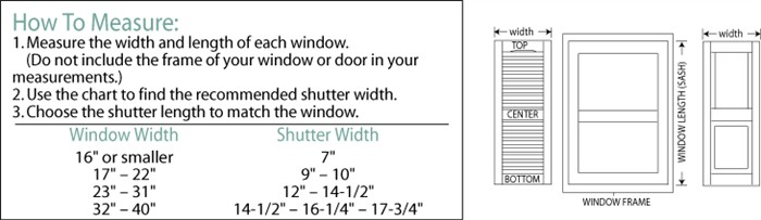 How To Measure Windows For Vinyl Shutters